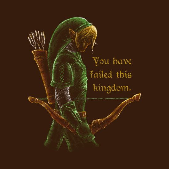 Link Failed Hyrule Legend of Zelda T-Shirt