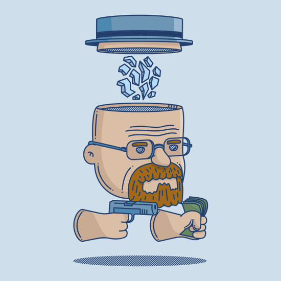 Walter White Deconstructed Breaking Bad T-Shirt