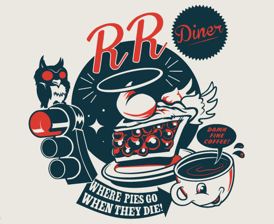 Double R Diner Pie Heaven Twin Peaks T-Shirt