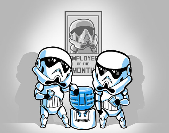 10fb17f3 Stormtroopers Water Cooler Funny Star Wars T-Shirt. ""