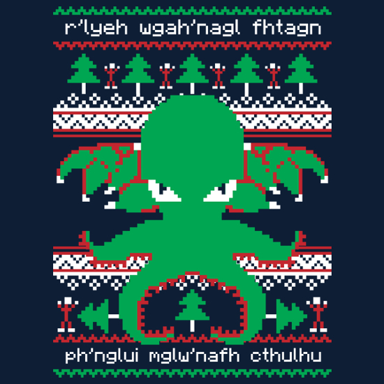 Cthulhu Christmas Ugly Sweater T-Shirt