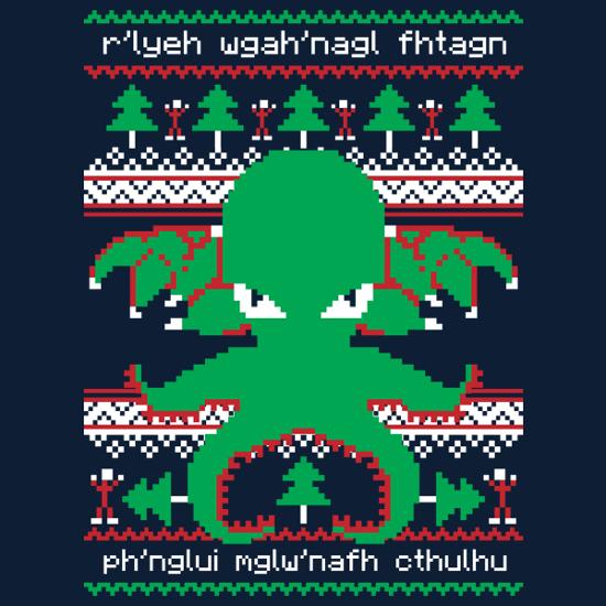 Cthulhu Christmas Ugly Sweater T-Shirt