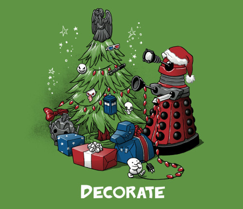 Decorate Dalek Doctor Who Christmas Tree T-Shirt
