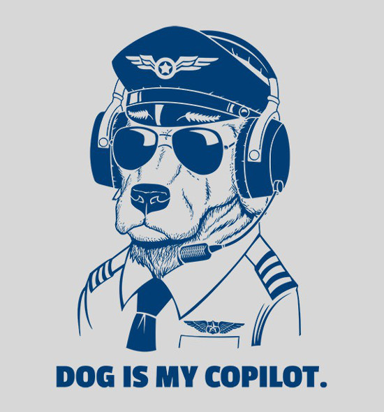 Dog Is My Copilot T-Shirt