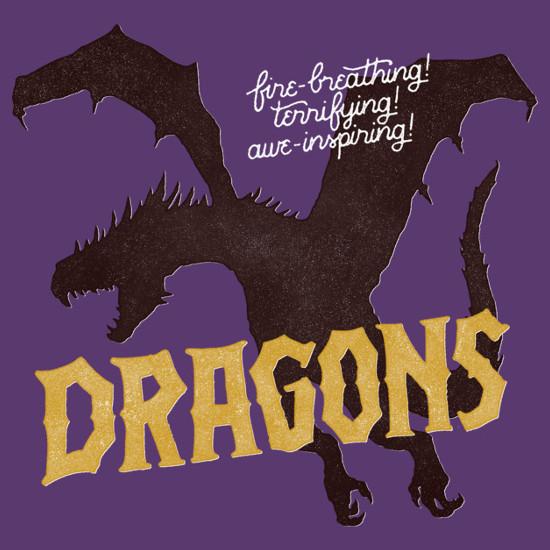 Dragons Fire-Breathing Terrifying Awe-Inspiring T-Shirt