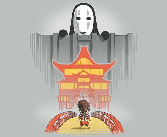 Attack on Titan Spirited Away No Face T-Shirt