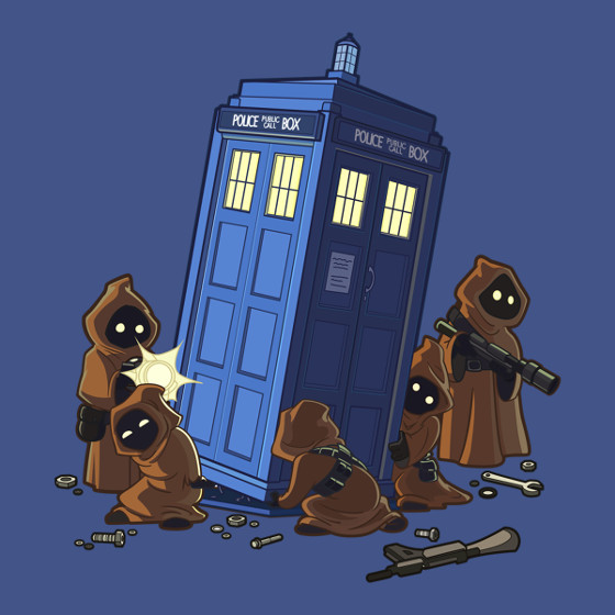 Jawas TARDIS Star Wars Doctor Who T-Shirt