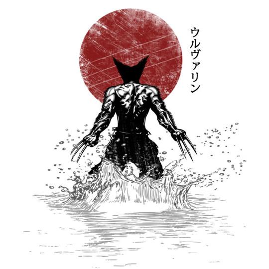 Wolverine Japanese Art X-Men T-Shirt