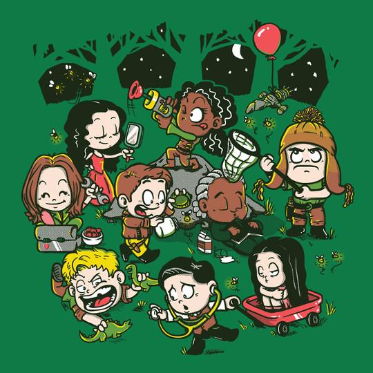 Firefly Little Kids Catching Fireflies T-Shirt