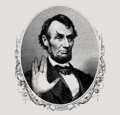 Abraham Lincoln Spock Live Long and Prosper Star Trek T-Shirt