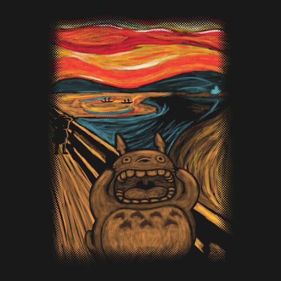 My Neighbor Totoro Scream Edvard Munch Art T-Shirt