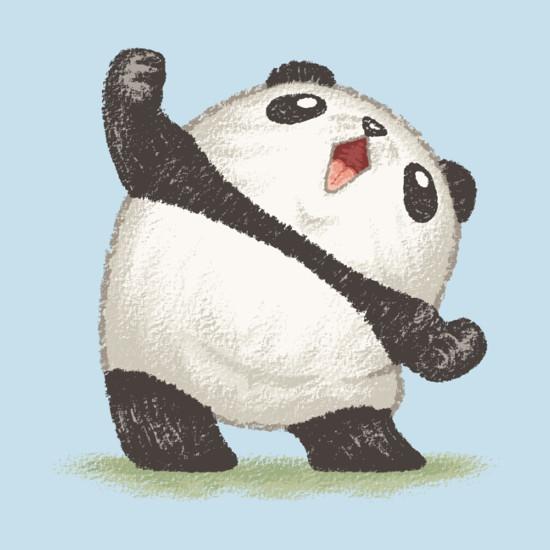 Panda Joy Victory Scream Cute T-Shirt
