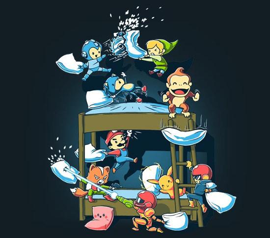 Super Smash Bros Pillow Fight T-Shirt