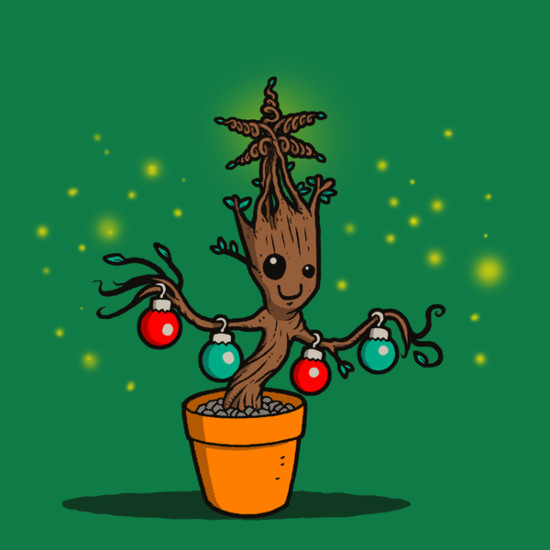Groot Christmas Tree Guardians of the Galaxy T-Shirt