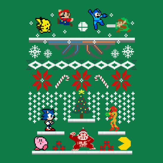 Super Smash Bros Christmas Sweater T-Shirt