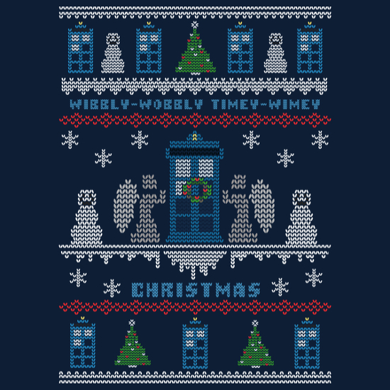 Doctor Who Wibbly Wobbly Christmas Sweater T-Shirt