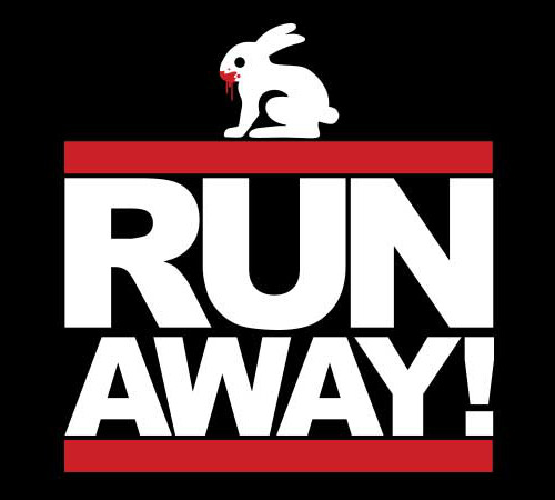 Run Away! Monty Python Rabbit DMC T-Shirt