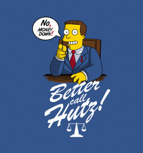 Better Call Hutz Saul Simpsons Breaking Bad T-Shirt