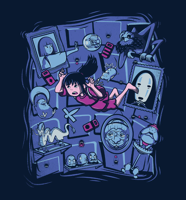 Spirited Away Alice in Wonderland Chihiro T-Shirt
