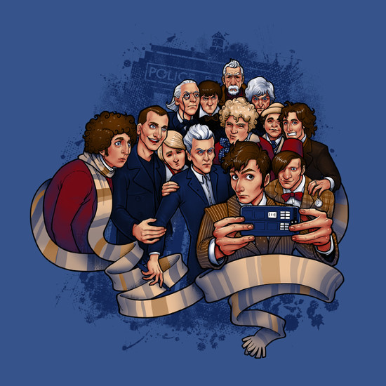 Doctor Who Group Selfie T-Shirt