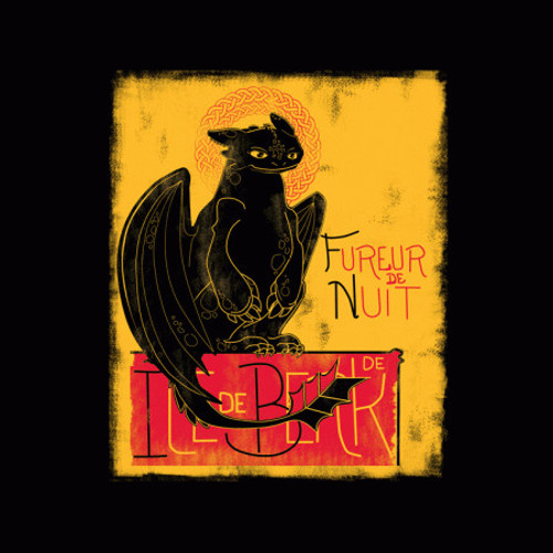 Toothless Le Chat Noir Cat How To Train Your Dragon T-Shirt