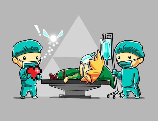 Link Heart Transplant Legend of Zelda T-Shirt