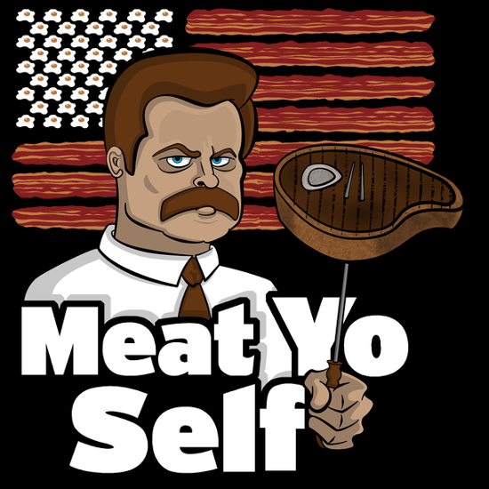 Meat Yo Self Ron Swanson Parks and Recreation T-Shirt