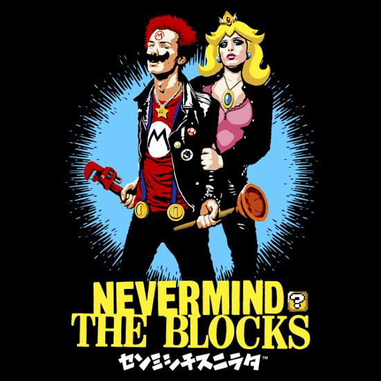 Nevermind the Blocks Super Mario Sex Pistols T-Shirt