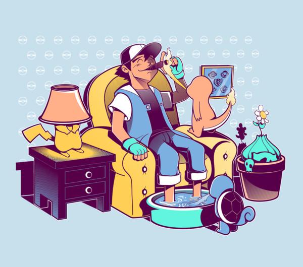 Pokemon Boss Trainer Lounge T-Shirt
