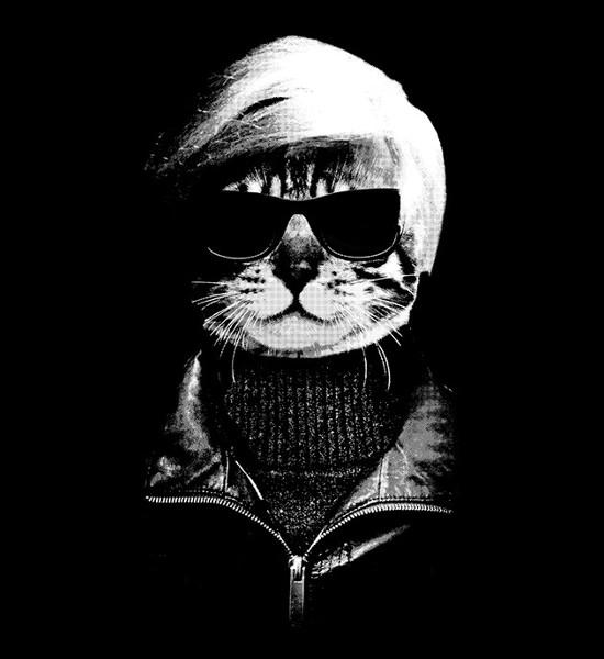 Andy Warhol Pop Cat Portrait T-Shirt