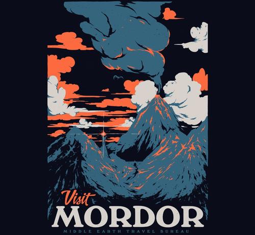 Visit Mordor Hobbit Vacation T-Shirt