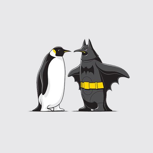 Arch Enemies Batman & Penguin Penguins T-Shirt