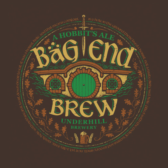 Bag End Brew Hobbit Beer T-Shirt