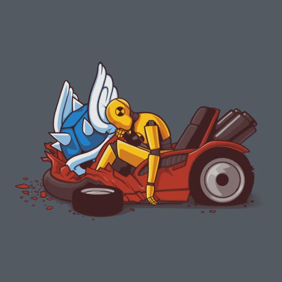 Blue Shell Crash Test Dummy Mario Kart T-Shirt