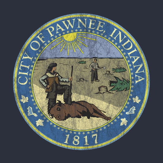 Pawnee Indiana Seal Parks and Recreation T-Shirt