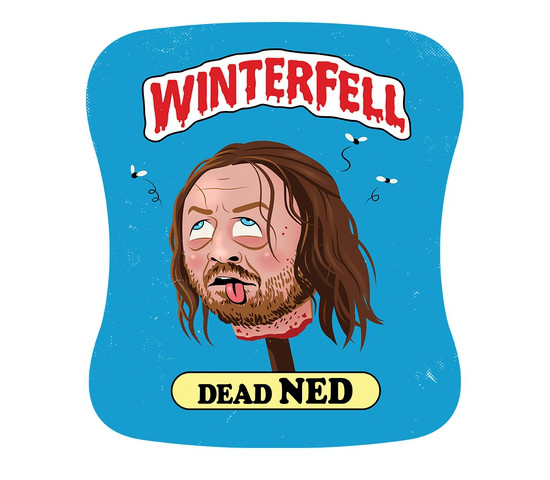 Dead Ned Stark Garbage Pail Kids Game of Thrones T-Shirt