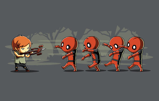 Daryl Dixon Deadpool Walkers The Walking Dead T-Shirt
