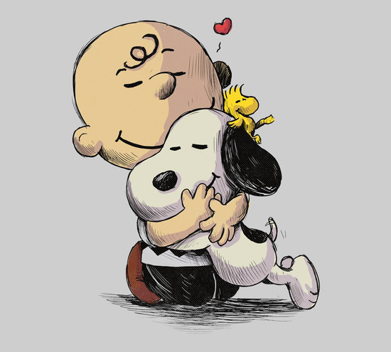Charlie Brown Snoopy Hug T-Shirt