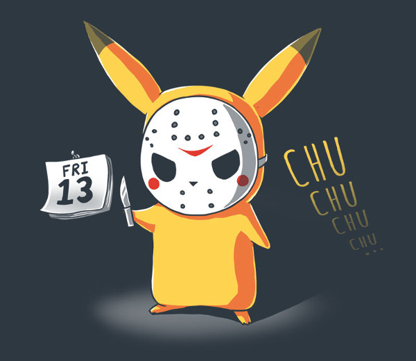 Friday the 13th Pikachu Pokemon T-Shirt