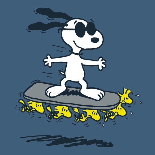 Snoopy Woodstock Hoverboard T-Shirt