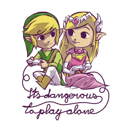 It's Dangerous To Play Alone Link Zelda T-Shirt