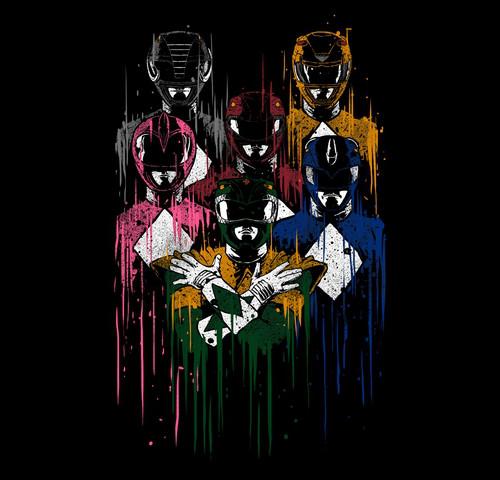 Power Rangers Queen Rhapsody MMPR T-Shirt