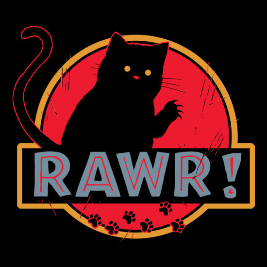 Rawr! Cat Jurassic Park T-Shirt