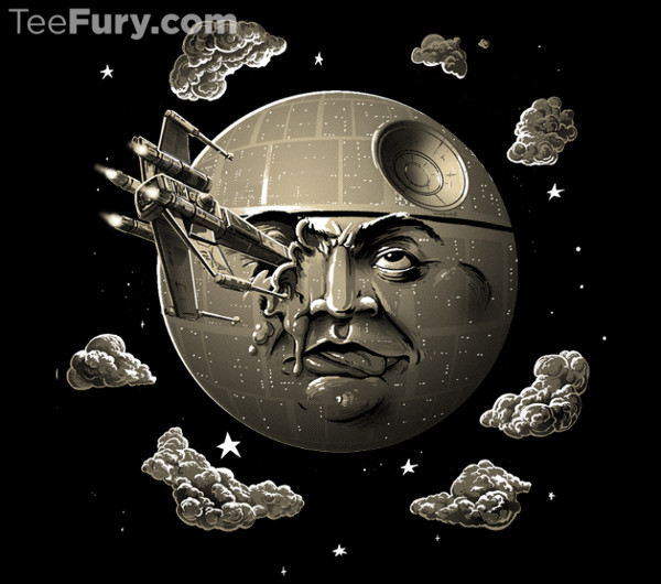Star Wars Trip To The Moon Death Star T-Shirt