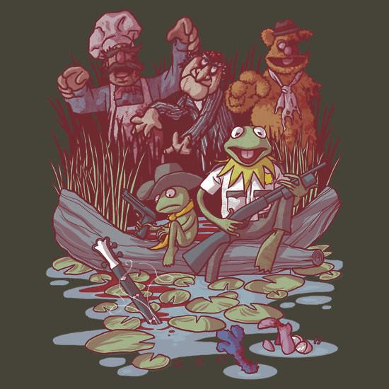 Walking Dead Muppets Kermit Frog T-Shirt