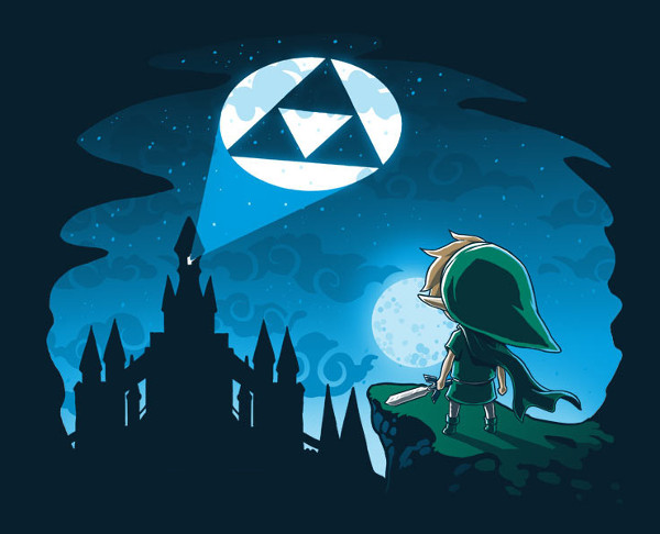 Tri-Force Bat Signal Legend of Zelda T-Shirt