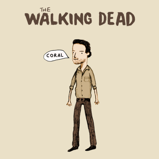 Rick Grimes Coral Carl The Walking Dead T-Shirt