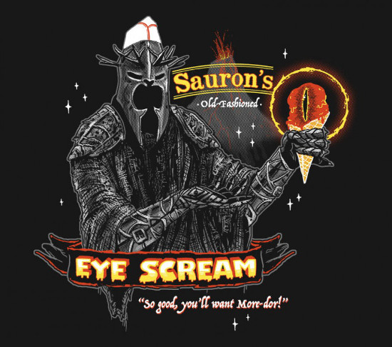 Sauron Ice Cream Funny Hobbit Lord of the Rings T-Shirt