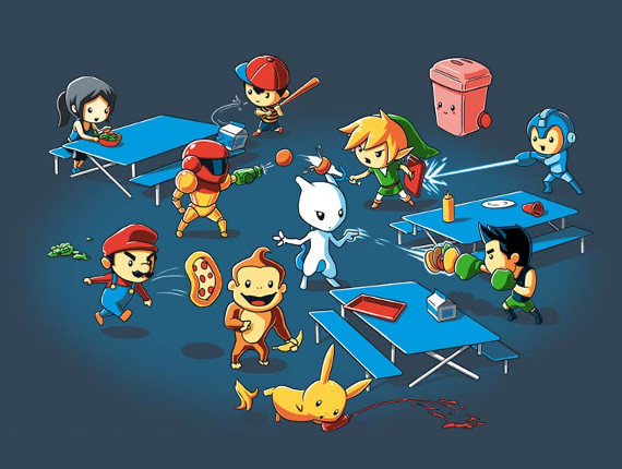 Super Smash Bros. Food Fight T-Shirt