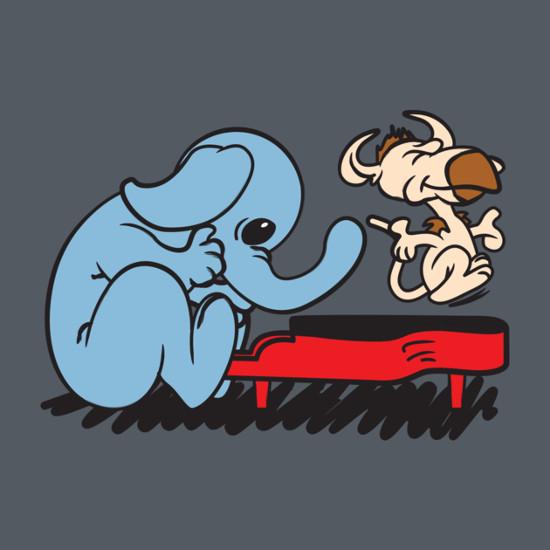Max Rebo Piano Schroeder Peanuts Star Wars Charlie Brown T-Shirt